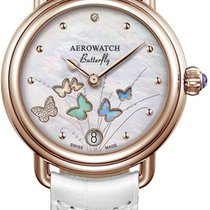 Aerowatch 1942 Steel 36mm Mother of pearl No numerals