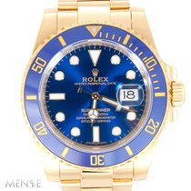 Rolex Submariner Date Yellow gold 40mm Blue