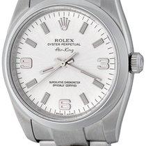 Rolex Air King gebraucht 34mm Silber Stahl