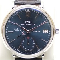 IWC Aço 45mm Corda manual IW510106 novo