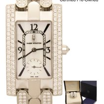 哈利温•斯顿 Avenue Classic 18k White Gold & 4.20ct Diamond B&P Watch