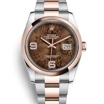Rolex Datejust Roségold Choco Diamond NOS with latest Mondani...