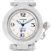 Cartier Pasha C Midsize Steel Watch Big Date W31044m7