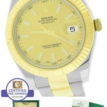 Rolex Datejust II 2 116333 Two-Tone Gold Stainless Champagne 41mm