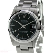 Rolex Oyster Perpetual Medium Size Ref-77080 Blue Dial...