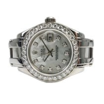 Rolex Lady-Datejust Pearlmaster Oro blanco 29mm Madreperla Sin cifras