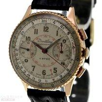 Breitling Chronomat gebraucht 36mm Silber Chronograph Leder