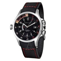 Hamilton Khaki Navy GMT Men's Automatic Watch H77635333. 100%...