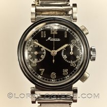 Minerva –  1930 Step-case Flexible-lugs Glossy Dial Chronograp...