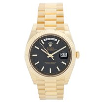 Rolex Day-Date II President 18k Yellow Gold Men's 40mm Watch...