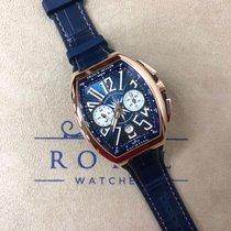 Franck Muller Vanguard Rose gold 45mm Blue