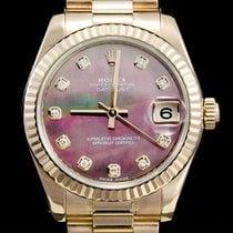 Rolex Lady-Datejust Or rose 31mm Nacre Sans chiffres
