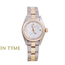 Rolex Oyster Perpetual pre-owned 24mm Mother of pearl Gold/Steel