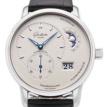 Glashütte Original Steel Automatic Silver 40mm new PanoMaticLunar