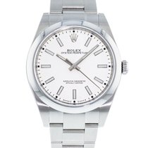 Rolex Steel Automatic White 39mm pre-owned Oyster Perpetual 39