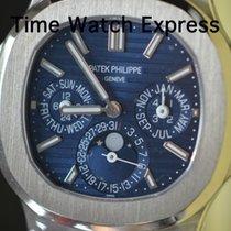 Patek Philippe Nautilus Ouro branco 40mm Azul Sem números