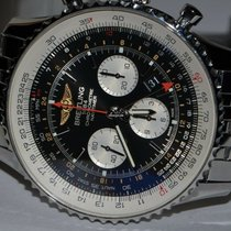 Breitling Navitimer GMT pre-owned 48mm Black Chronograph Date GMT Steel