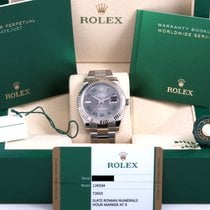 Rolex Datejust Steel 41mm Silver No numerals