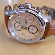 Hamilton Jazzmaster Auto Chrono occasion 42mm Argent Chronographe Date Cuir