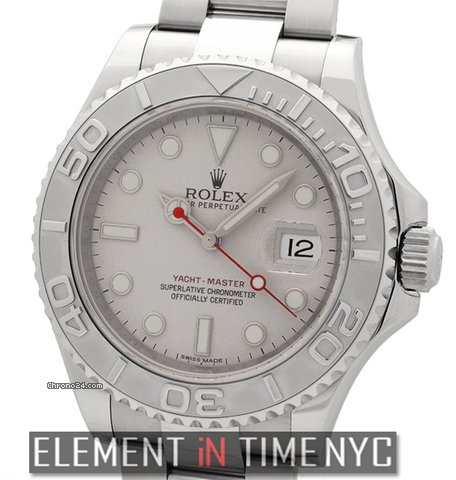 Rolex Yacht,Master Stainless Steel Platinum Bezel 40mm New Buckle Model