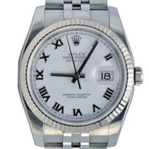 Rolex DateJust Stainless Steel, White Roman,