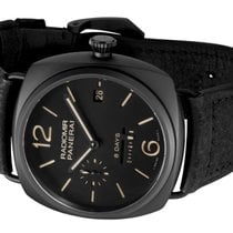 Panerai Ceramic Automatic Black Arabic numerals 45mm pre-owned Radiomir 8 Days