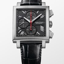 Louis Erard La Carrée Steel 39mm Black No numerals