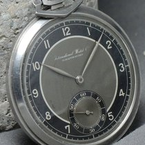IWC Art Deco Pocket Watch with black two tone dial