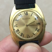 Bulova 31 mm oro gold plated steel manuale manual