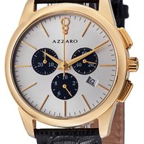 Azzaro Gold/Steel Quartz AZ2040.63SB.000 new