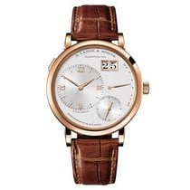 A. Lange & Söhne Rose gold Manual winding Silver Roman numerals 40mm new Grand Lange 1