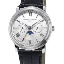 Frederique Constant Classics Business Timer nieuw 40mm Staal