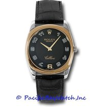 Rolex Cellini Danaos Bílé zlato 34mm Černá Arabské