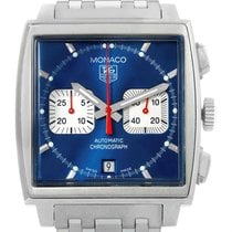 TAG Heuer Monaco Blue Dial Automatic Chronograph Mens Watch...