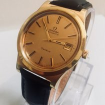 Omega Geneve Mens Date Cal 1012 Gold Plated Date + Box