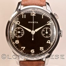 Invicta – Vintage 1930's  39+mm Chronograph Black Glossy Dial