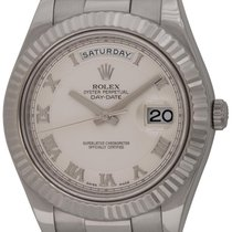 Rolex : Day-Date II President :  218239 :  18k White Gold :...