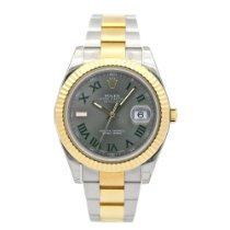 Rolex Datejust II pre-owned 41mm Grey Date Gold/Steel