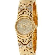 Bulgari Parentesi 18k Yellow gold Pave diamonds on dial and...