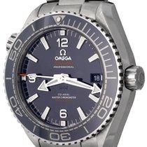 Omega Seamaster Planet Ocean pre-owned 43.5mm Blue Date Steel
