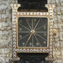 Hermès neu Quarz 230mm Gelbgold Glas