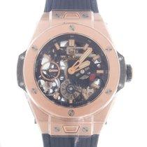 Hublot Big Bang Meca-10 Złoto różowe 45mm Niebieski