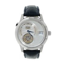 Glashütte Original Platinum Automatic Silver No numerals 38mm pre-owned PanoMaticTourbillon
