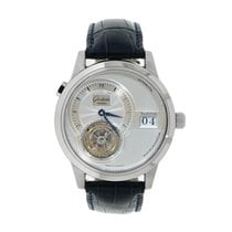 Glashütte Original PanoMaticTourbillon pre-owned 38mm Silver Tourbillon Date Crocodile skin