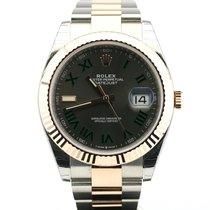 Rolex Datejust II Or/Acier 41mm Brun Sans chiffres Belgique, bruxelles