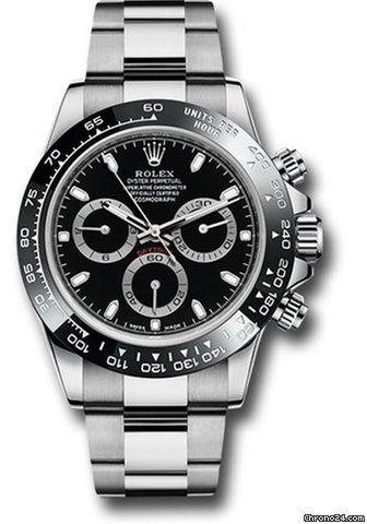 Rolex Daytona Stainless Steel Black Ceramic Bezel 116500LN