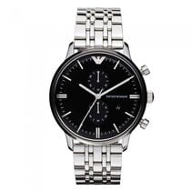 Armani Steel 43mm Quartz AR0389 new
