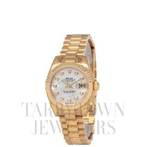 Rolex Lady-Datejust Or jaune 26mm Nacre