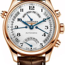 Longines Rose gold Automatic Silver Arabic numerals 41mm new Master Collection