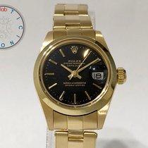 Rolex Oyster Perpetual Lady Date Stahl 26mm Schwarz Keine Ziffern Schweiz, Chiasso